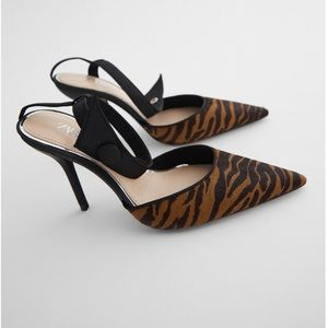 💥HOST PICK💥ZARA LEATHER ANIMAL PRINT HEELS